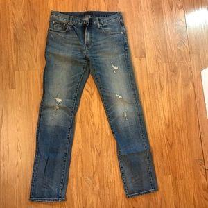 Uniqlo men's distressed jeans size 30